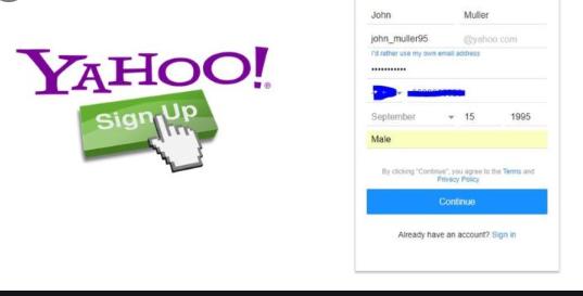 Create A Free Yahoo Account - Yahoo Mail Sign Up, Yahoo