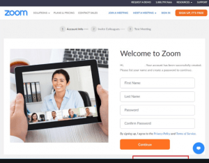 Zoom Sign up