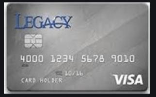 Legacy Visa Credit Card Login Page