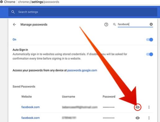 Saved Passwords On Chrome